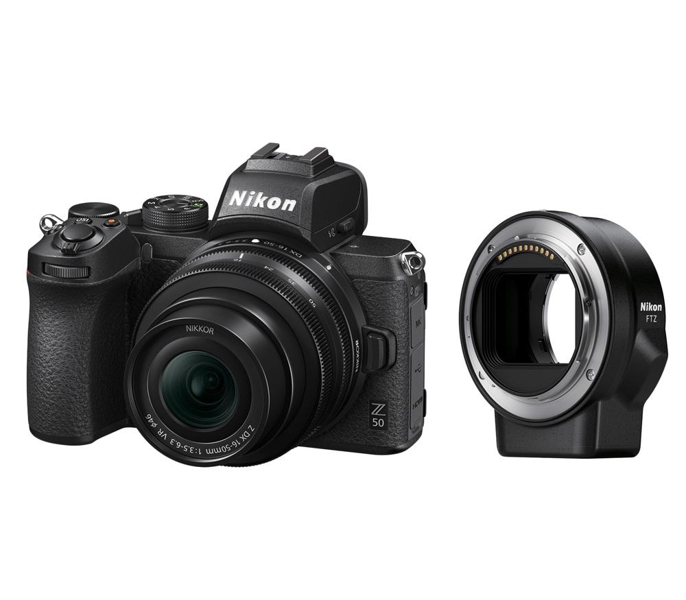 NIKON Z 50 + NIKKOR Z DX 16-50mm VR + FTZ Adapter Kit